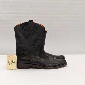 NEW- Henry Cuir Cowboy Boots, Leather size 41